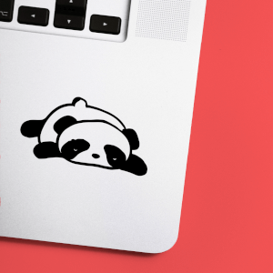 Flat Out Panda Laptop Sticker
