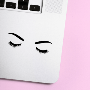Lashes With Eyebrows Laptop Sticker