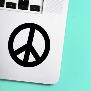 Peace Symbol Laptop Sticker