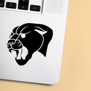 Puma Tattoo Style Laptop Sticker