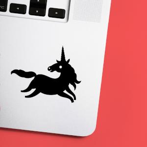 Galloping Unicorn Laptop Sticker