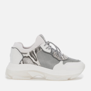 Bronx Women's Baisley Running Style Trainers - White/Silver