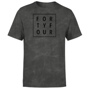 How Ridiculous Forty Four Square T-shirt - Black Acid Wash