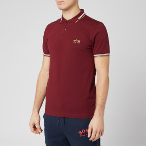 BOSS Men's Paul Curved Polo Shirt - Dark Pink