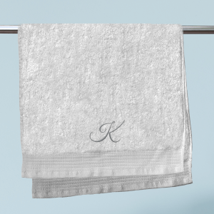 Initial Embroidered Hand Towel