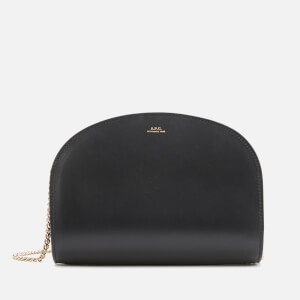 A.P.C. Women's Demi Lune Chain Strap Bag - Black
