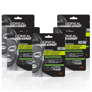 L'Oréal Paris Men Expert Pure Charcoal Face Mask x5 (Worth £19.95)