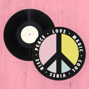 Love Magic Cool Vibes Rise Peace Repeat Record Player Slip Mat