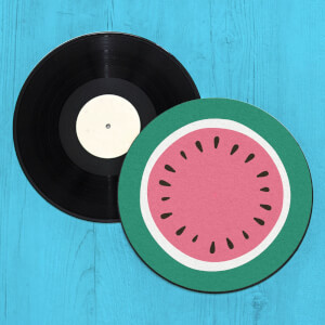Watermelon Record Player Slip Mat