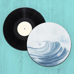 Breaking Wave Record Player Slip Mat