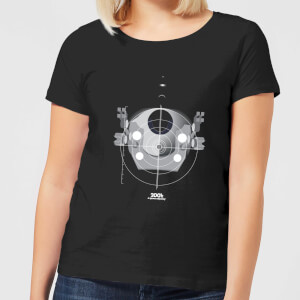 2001: A Space Odyssey EVA Pod Women's T-Shirt - Black