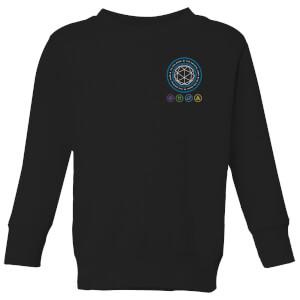 Crystal Maze Crystal Pocket Kids' Sweatshirt - Black