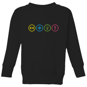 Crystal Maze Game Modes Kids' Sweatshirt - Black