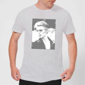 David Bowie Wild Profile Framed Men's T-Shirt - Grey