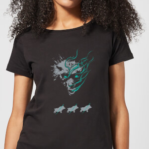 Magic The Gathering Throne of Eldraine Big Bad Wolf Women's T-Shirt - Black