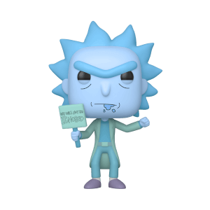 Rick & Morty Hologram Rick Protestor GITD EXC Pop! Vinyl Figure