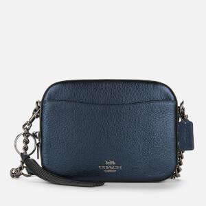 Coach Women's Metallic Leather Camera Bag - Midnight Blue