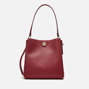 Coach Women's Polished Pebble Leather Charlie Bucket - Deep Red