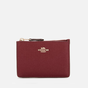 Coach Women's Crossgrain Mini Id Skinny - Deep Red