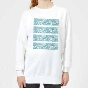 Floral Pattern Women's Sweatshirt - White