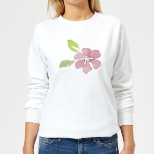 Pink Flower 2 Women's Sweatshirt - White