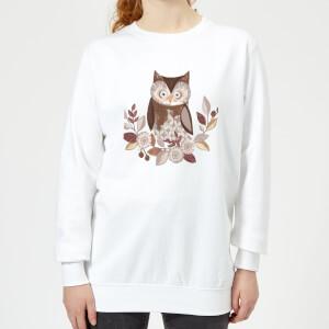 Owl Women's Sweatshirt - White