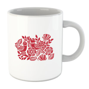 Folk Bird Graphic Mug
