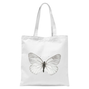 Butterfly 2 Tote Bag - White