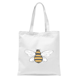 Bee Tote Bag - White