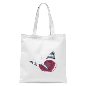 Butterfly 4 Tote Bag - White