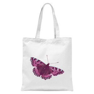 Butterfly 5 Tote Bag - White