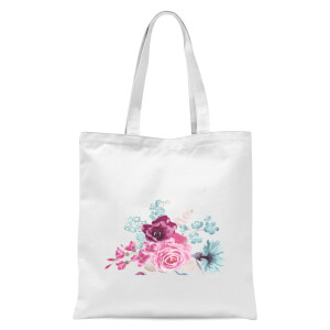 Bunch Of Flowers 3 Tote Bag - White