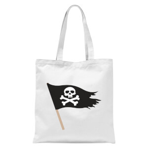 Pirate Flag Tote Bag - White