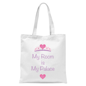 My Room Is My Palace Tote Bag - White