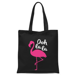 Ooh La La Flamingo Tote Bag - Black