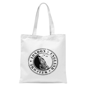 London Stamp Tote Bag - White
