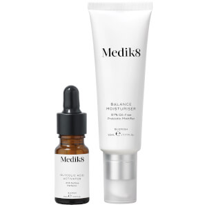 Medik8 Balance Moisturiser 50ml and Glycolic Acid Activator 10ml