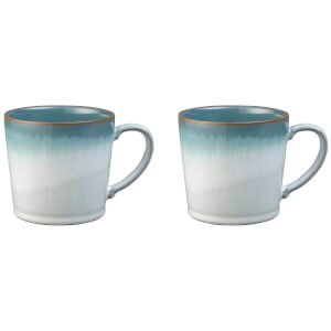 Denby Azure Haze Large Mugs - 400ml (Set of 2)
