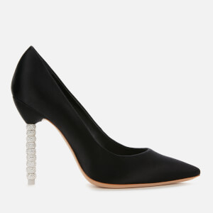 Sophia Webster Women's Coco Crystal Court Shoes - Black Satin