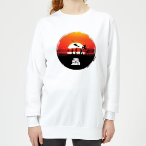 Full Metal Jacket Sunset Circle Women's Sweatshirt - White
