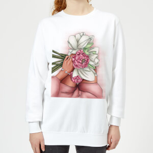 Flowers Women's Sweatshirt - White