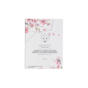 Snow Fox Japanese Cherry Blossom and White Tea Smoothing Mask (Set of 5)