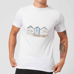 Candlelight Wooden Beach Hut Men's T-Shirt - White