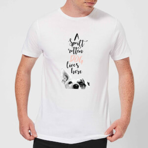Candlelight A Spoilt Rotten Dog Lives Here Jack Russell Men's T-Shirt - White