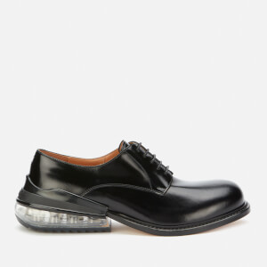 Maison Margiela Men's Airbag Heel Leather Lace Up Derby Shoes - Black