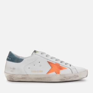 Golden Goose Deluxe Brand Men's Superstar Leather Trainers - White/Apricot Star