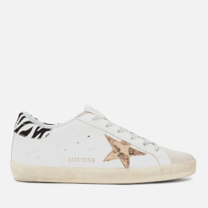 Golden Goose Deluxe Brand Women's Superstar Trainers - White Leather/Pony Leopard Star/Zigger Details
