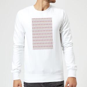 Candlelight Summer Pattern Sweatshirt - White
