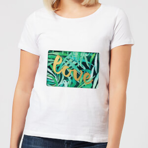 Candlelight Jungle Bush Golden Love Women's T-Shirt - White