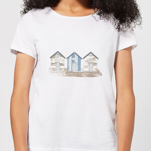 Candlelight Wooden Beach Hut Women's T-Shirt - White